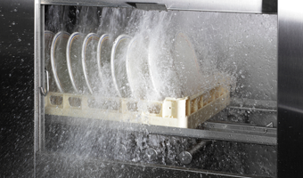 Rack Conveyor Dishwasher Wash Action