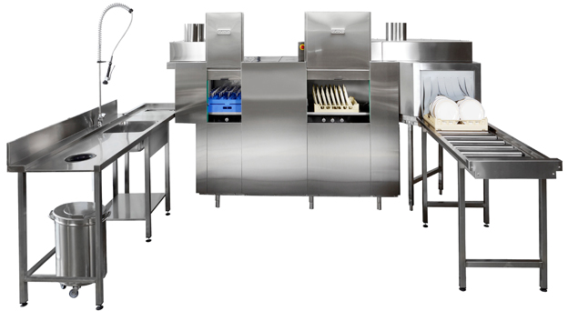 Rack Conveyor Dishwasher System 1